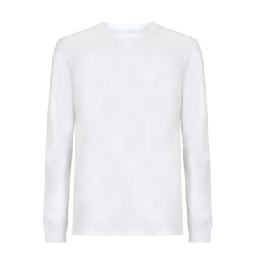 Continental Organic Cotton Unisex Long Sleeve T (White)