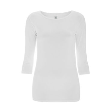 Continental Earthpositive 3/4 Sleeve Stretch T-Shirt (White )