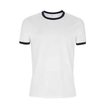 Continental Mens/Unisex Jersey T-Shirt (White/Navy Ringer)