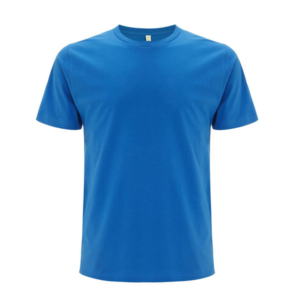 bright blue organic cotton t