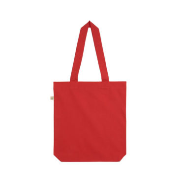 Organic Cotton Fashion Tote Bag in Red