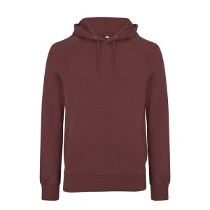 Dark red organic cotton hoody