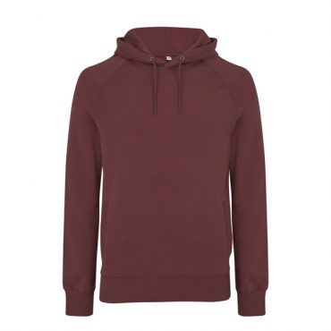 Earthpositive Heavyweight Organic Cotton Hoody in Burgundy
