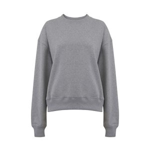 womens grey dropped shoulder sweatshirt