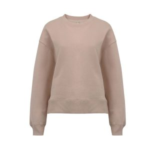 Womens pink dropped shoulder sweatshirt