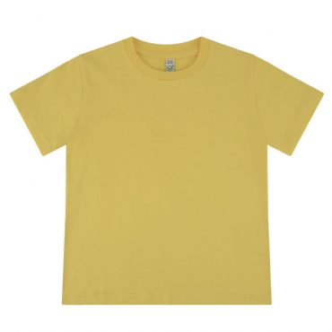 Earth Positive Junior T-Shirt in Buttercup Yellow