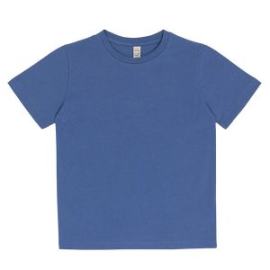 kids organic cotton t-shirt in faded denim