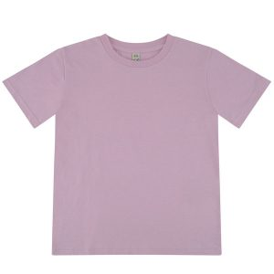 kids organic cotton lilac t-shirt