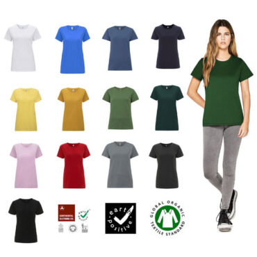 Continental Womens Organic Cotton T-Shirt in XL and XXL