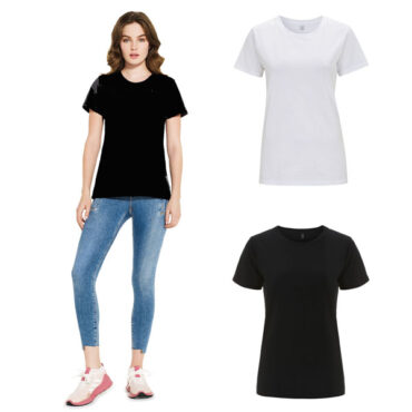 Continental Womens Organic Cotton T in Black and White