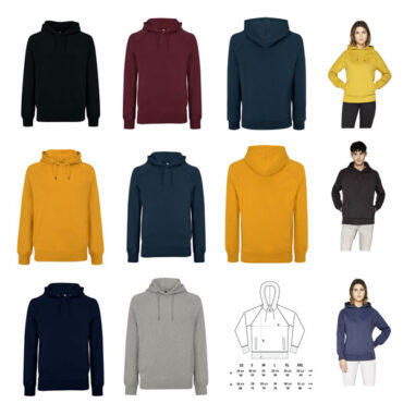 Heavyweight Hoody 100% Organic Cotton in Seven Colours