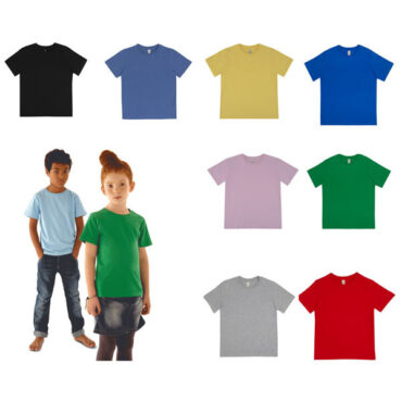 Organic Cotton Kids T-Shirt in Eight Colours